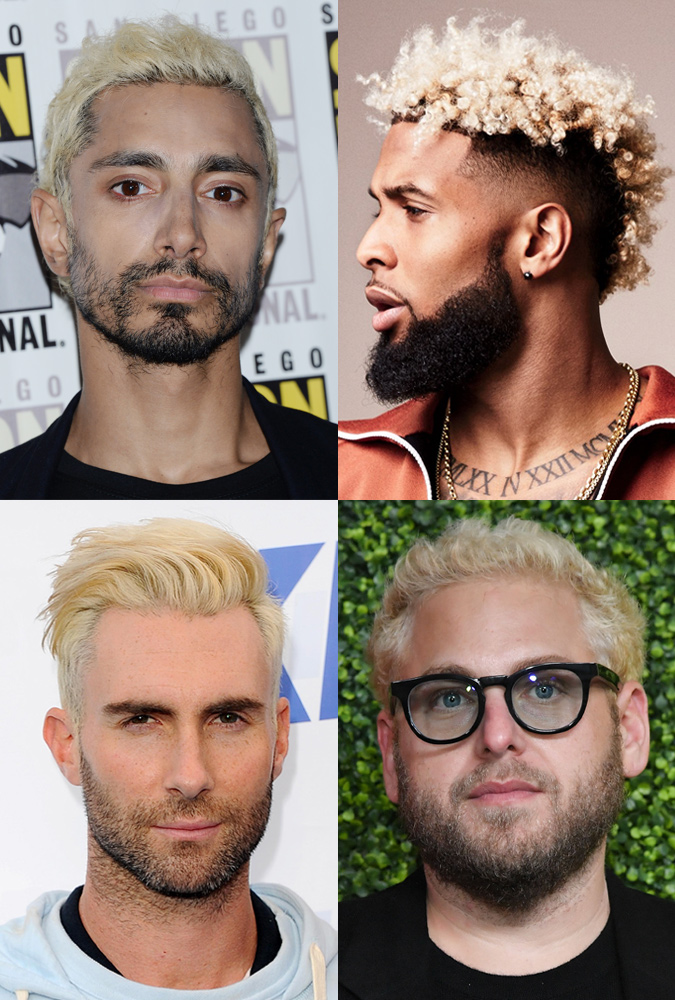 Celebrity bleached hair
