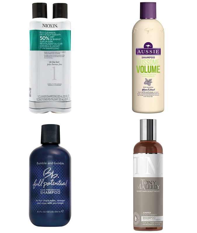 The best hair thickening shampoos