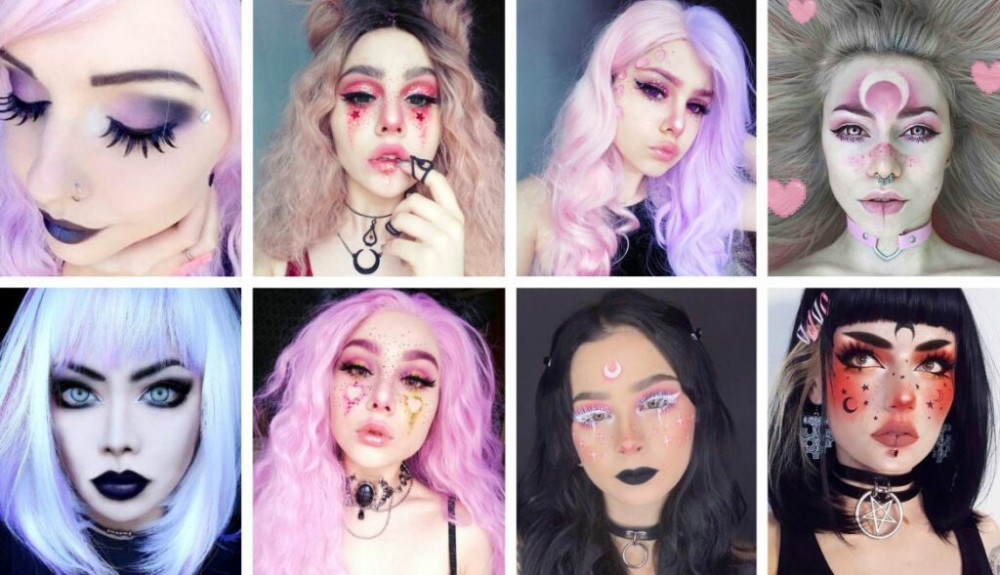 how to look like a cute goth, pastel goth anime, pastel goth aesthetic, Pastel Goth MakeUp