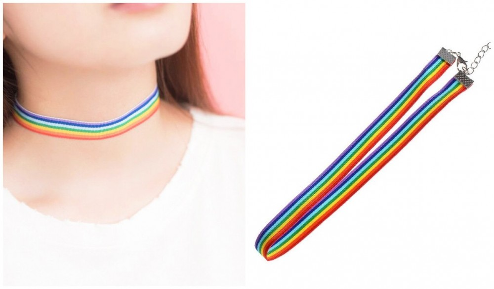 Rainbow Clothing and Accessories Rainbow Aesthetic Thick Choker itGirl Shop Blog