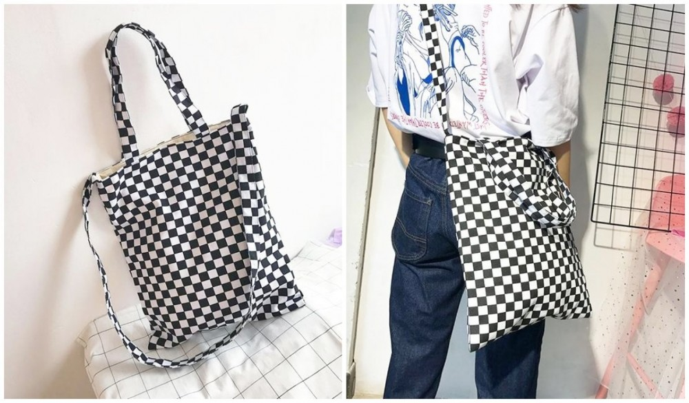 Checkered Grid Outfits Compilation Checkered Grid Bw Tote Canvas Bag itGirl Shop Blog, eGirls Checkered Outfits Guide (Hoodie, Jackets, Shirt, Top, Pants, Skirts, Accessories), checkered clothes women, checkered shorts outfit men's, checkered outfit set, checkered outfits, checkered outfit gta, checkered shirt outfit, checkered top, checkered pants outfit, checkered skirt outfit, eGirl outfit ideas