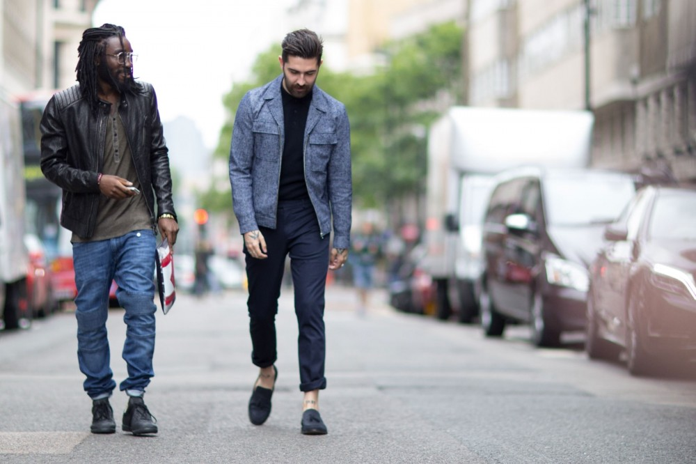 street style mens show the impression