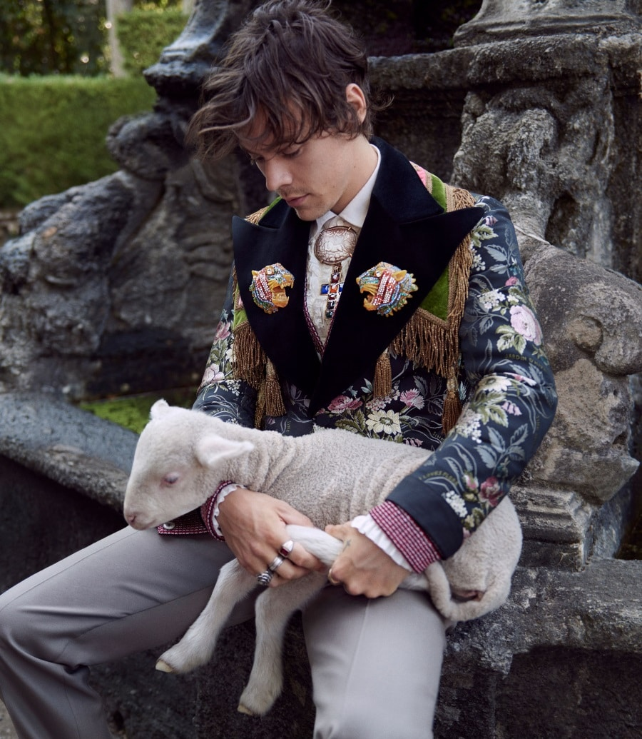 harry styles gucci sheep in the hand