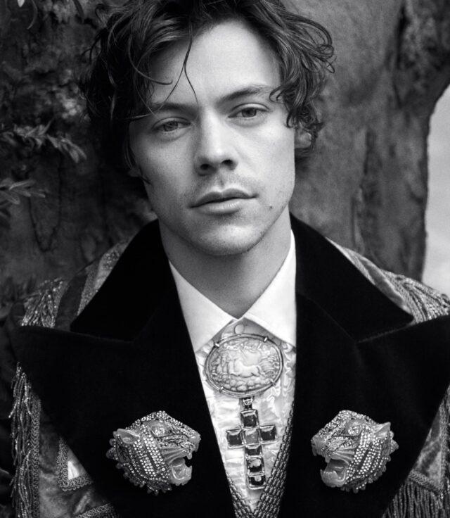 harry styles gucci wearing blazer