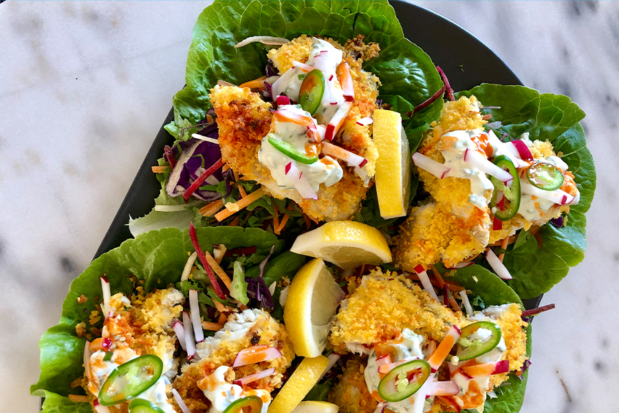 Naked Crumbed Barramundi Tacos, low calorie recipes for weight loss, low calorie meals on a budget, low calorie dinner recipes for weight loss, low calorie meals for one, low-calorie meals that fill you up, low-calorie foods, low calorie meals vegetarian, low calorie lunch