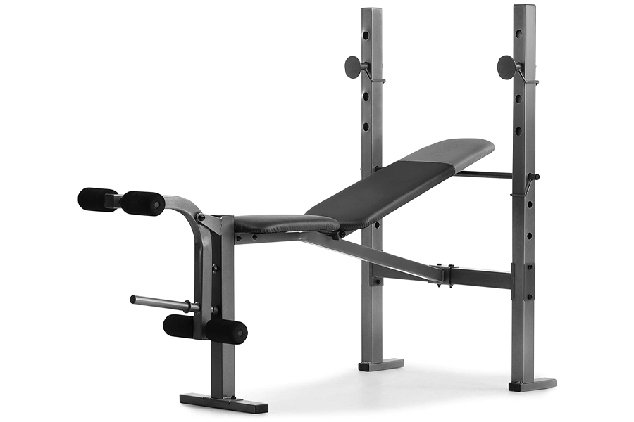 Gold's Gym XR 6.1 Weight Bench with 4-Roll Leg Developer, workout routine at home, home workout, home gym exercises without equipment, home gym exercises no equipment, at home workouts for beginners, at home workout plan without equipment, home exercises for men, bodyweight exercises