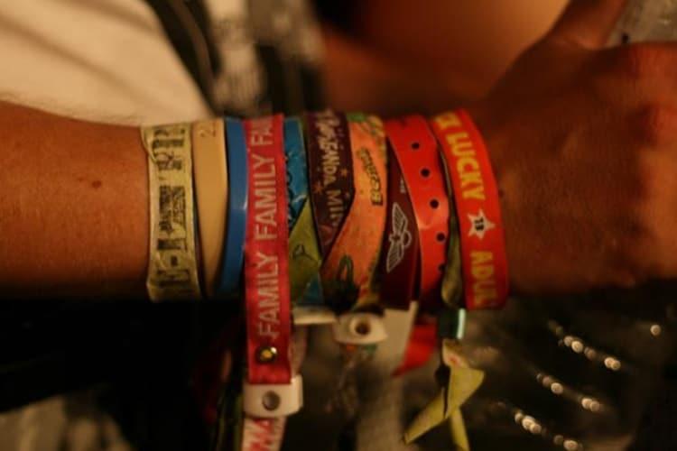 half destroyed gig wristbands