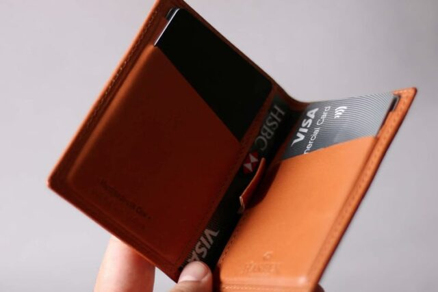 harber london leather bifold coin wallet