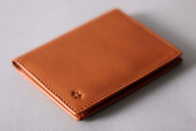 harber london leather bifold orange color wallet