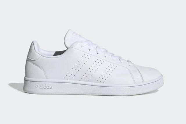 Advantage Cloudfoam white sneaker, best white sneakers 2020, men's white sneakers cheap, white leather sneakers, best white sneakers men's 2020, adidas white sneakers men's, minimalist white sneakers, white sneakers trend, white sneakers men's fashion