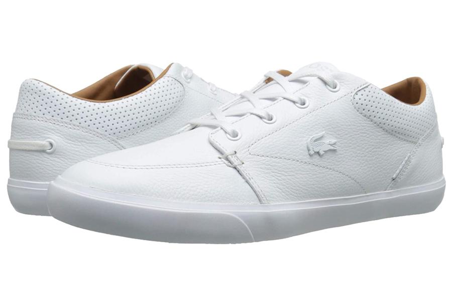 Lacoste Bayliss Vulc Premium White Sneakers, best white sneakers 2020, men's white sneakers cheap, white leather sneakers, best white sneakers men's 2020, adidas white sneakers men's, minimalist white sneakers, white sneakers trend, white sneakers men's fashion