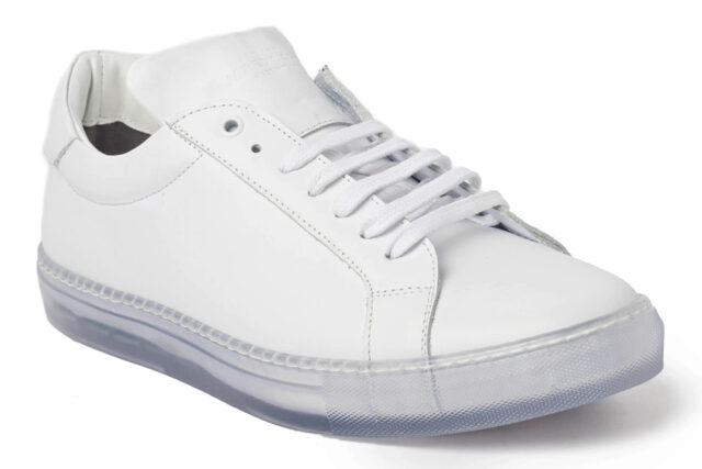 Jared Lang White Clear Sole Sneaker, best white sneakers 2020, men's white sneakers cheap, white leather sneakers, best white sneakers men's 2020, adidas white sneakers men's, minimalist white sneakers, white sneakers trend, white sneakers men's fashion