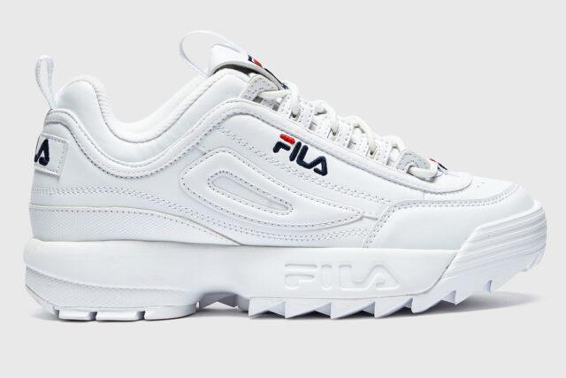 Fila Disruptor II white sneakers, best white sneakers 2020, men's white sneakers cheap, white leather sneakers, best white sneakers men's 2020, adidas white sneakers men's, minimalist white sneakers, white sneakers trend, white sneakers men's fashion