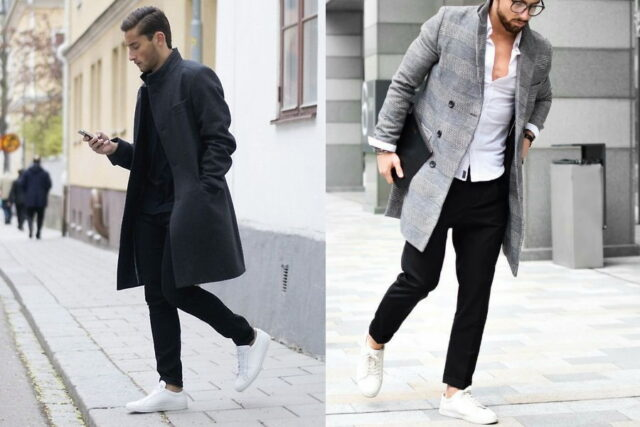 black jeans white shoes outfit, white shoes outfit male, white sneakers for men, black jeans white shoes outfit, black jeans white shoes men, can you wear white shoes with black pants