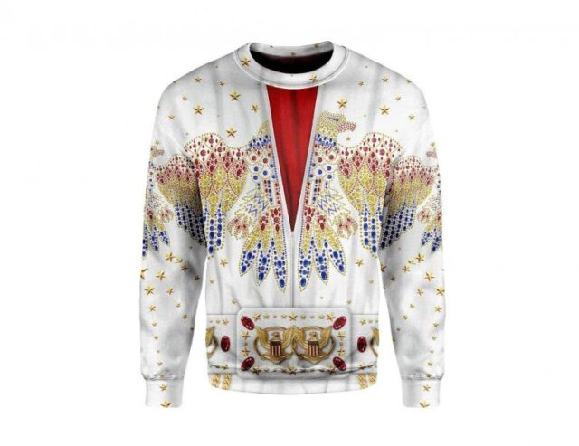 Elvis Print Hoodie - Elvis design printed clothes