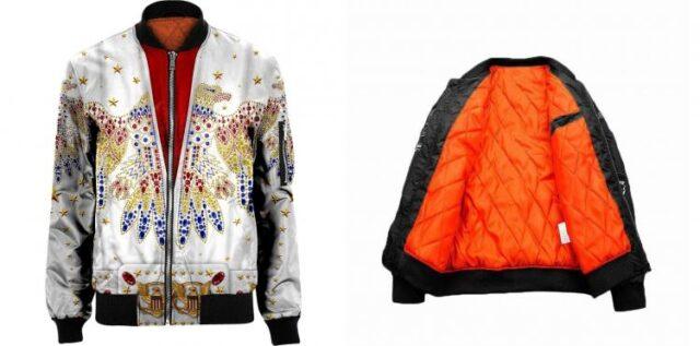Elvis Print Bomber Jacket - Elvis design printed clothes