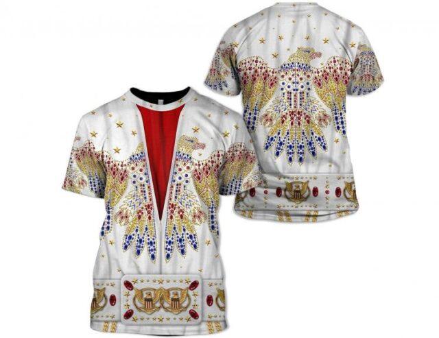 Elvis Print Shirt - Elvis design printed clothes