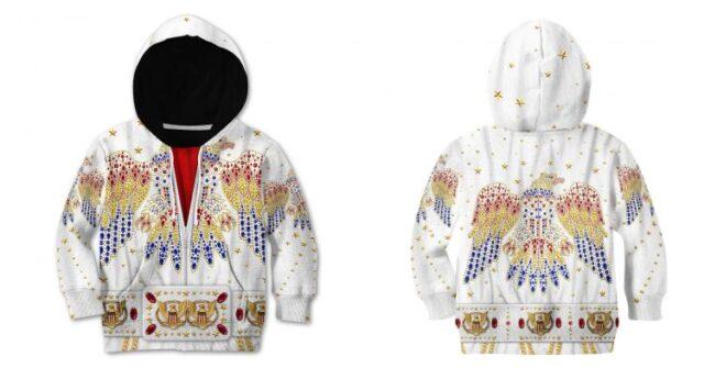 Elvis Print Kids hoodie - Elvis design printed clothes