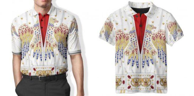 Elvis Print Polo Shirt - Elvis design printed clothes