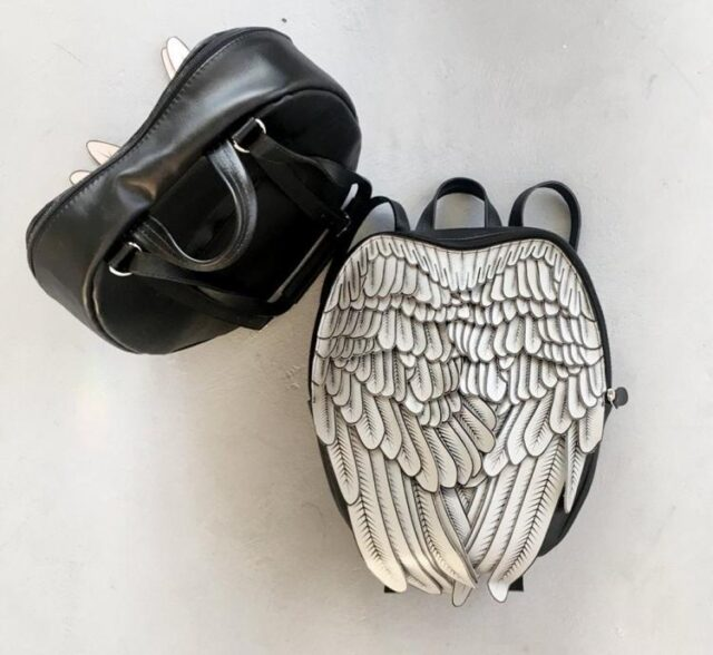 Unique leather backpacks that give you feathery wings - stylish winged backpack