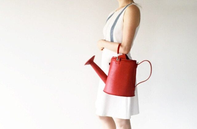 Stylish leather watering can bag - unique backpacks