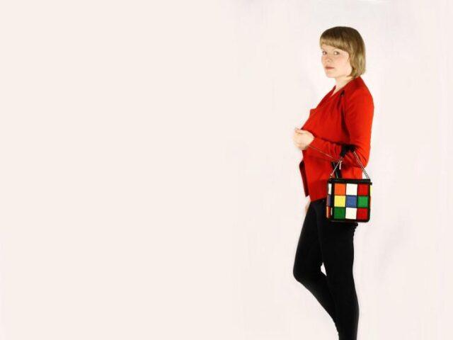 Stylish leather rubik's cube bag - unique backpacks