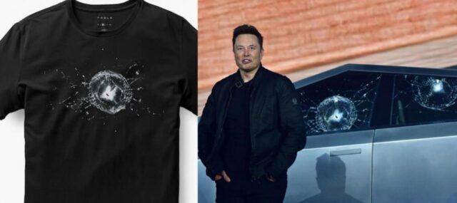 Tesla Cybertruck Smashed Window T-Shirt - Cybertruck Bulletproof cracked window Tee