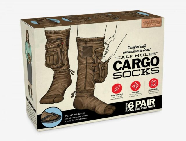 Cargo Socks - Socks with cargo pockets for storing your keys, snacks, or cash