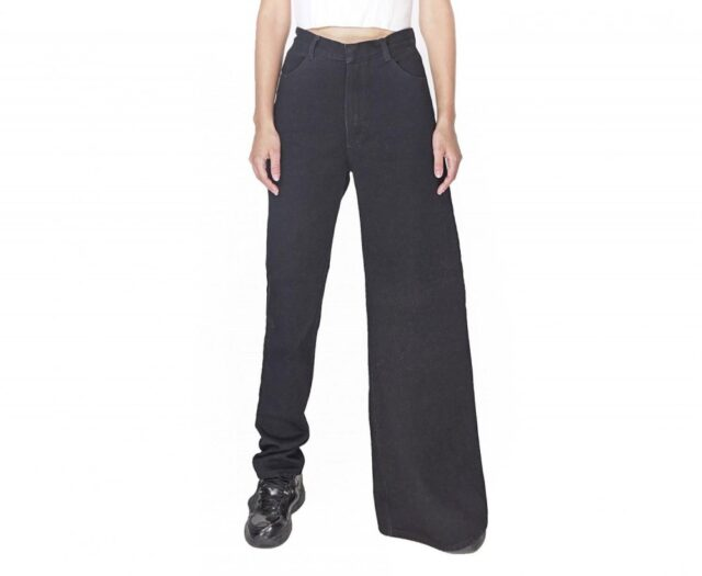 Ksenia Schnaider Asymmetrical Skinny and Wide Leg Jeans - Double-style jeans