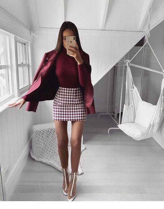 """autumn mahogany red fashion fall autumn burgundy mahogany red burgundy maroon mahogany wine red chick fashion classy elegant"""