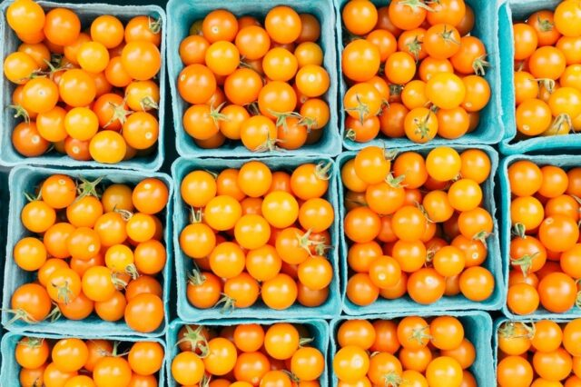 Image may contain Plant Food Produce Persimmon and Fruit