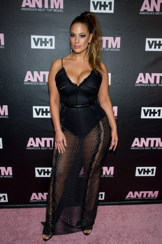 Image may contain Ashley Graham Fashion Human Person Advertisement Poster Premiere Clothing and Apparel