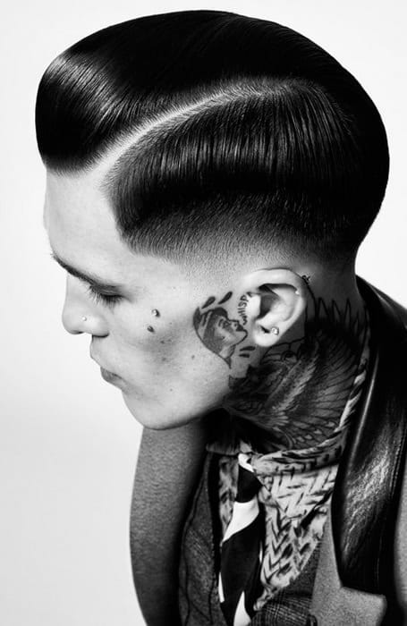 Pompadour With Line Up