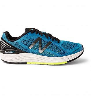 New Balance Fresh Foam Vongo V2 Mesh Running Sneakers1, black shoes with blue jeans, what trainers to wear with blue jeans, best shoes to wear with jeans men's, light blue jeans brown shoes, how to wear sneakers with jeans men's, grey shoes with blue jeans