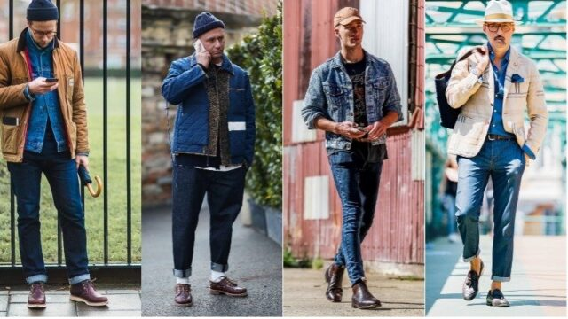 Blue Jeans With Dark Brown Shoes, black shoes with blue jeans, what trainers to wear with blue jeans, best shoes to wear with jeans men's, light blue jeans brown shoes, how to wear sneakers with jeans men's, grey shoes with blue jeans
