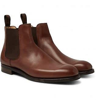 Cheaney Godfrey Burnished Leather Chelsea Boots10, black shoes with blue jeans, what trainers to wear with blue jeans, best shoes to wear with jeans men's, light blue jeans brown shoes, how to wear sneakers with jeans men's, grey shoes with blue jeans