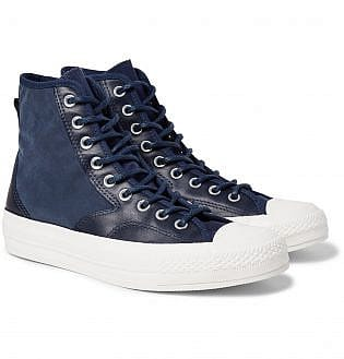 Converse 1970s Chuck Taylor All Star Hiker Brushed Canvas High Top Sneakers24, black shoes with blue jeans, what trainers to wear with blue jeans, best shoes to wear with jeans men's, light blue jeans brown shoes, how to wear sneakers with jeans men's, grey shoes with blue jeans