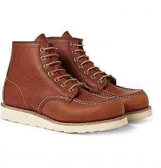 Red Wing Shoes 875 Moc Leather Boots22, black shoes with blue jeans, what trainers to wear with blue jeans, best shoes to wear with jeans men's, light blue jeans brown shoes, how to wear sneakers with jeans men's, grey shoes with blue jeans