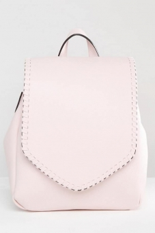 Glamorous Foldover Backpack With Stitch Detail