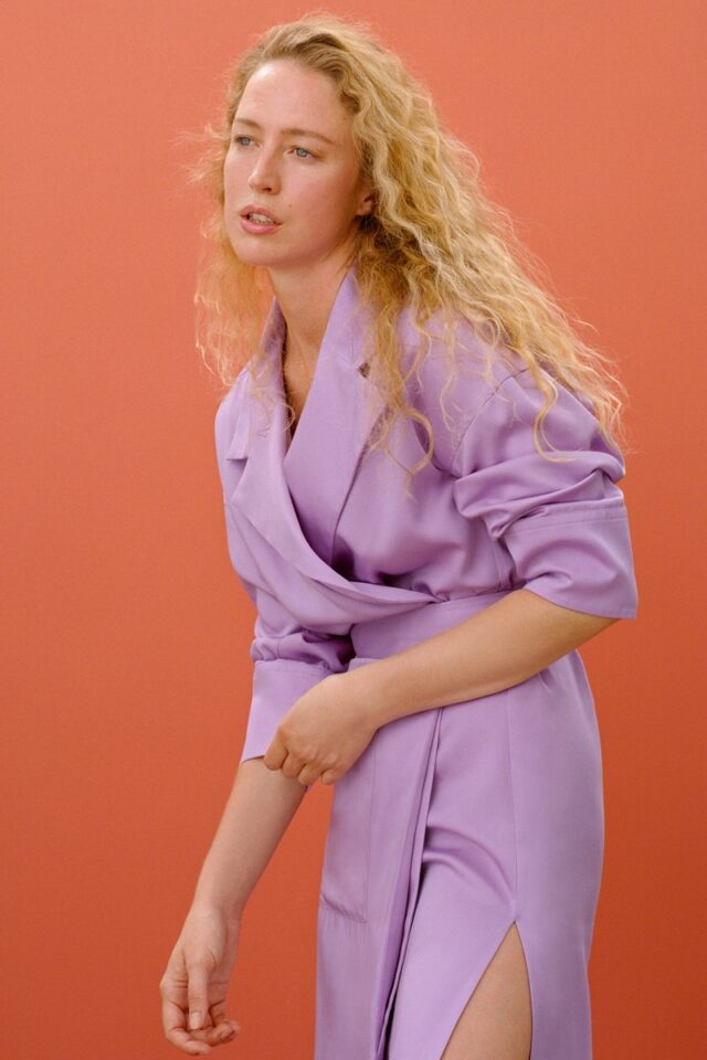 Raquel Zimmermann poses in Zara Join Life fall-winter 2020 collection.